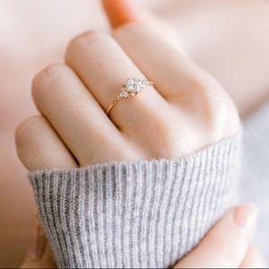 Jewelry - Dazzling Princess Cut White Sapphire Stargaze Ring